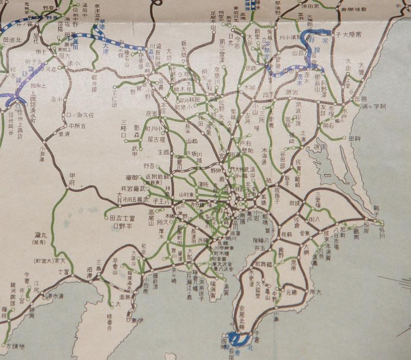 関東地方の昭和9年鉄道路線図 ... : 関東地方の地図 : すべての講義